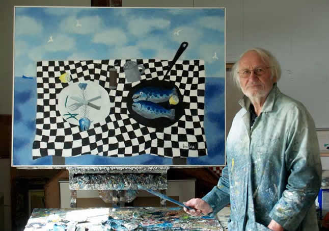 Bill Irvine in the Studio